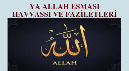 Ya Allah Esması - Ya Allah isminin fazileti - Ya Allah fazileti -esmaül hüsna sırları -esmaül hüsna faziletleri -allah zikri - Allah ismi -Ya allah zikri -ya allah zikrinin fazileti